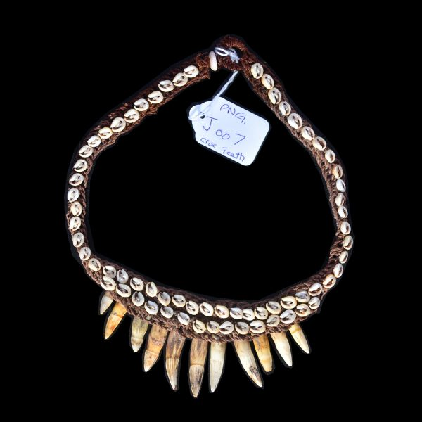 Crocodile tooth necklace collectible tribal artifacts mozeypictures Choice Image
