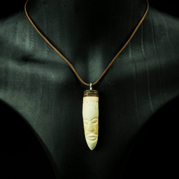Carved crocodile tooth pendant collectible tribal artifacts mozeypictures Choice Image